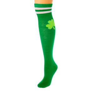 Shamrock Knee High Socks - Green,