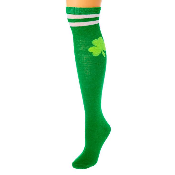Chaussettes montantes trèfle - Vert,