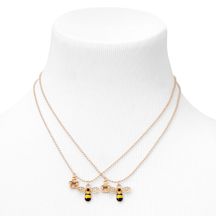 Best Friends Gold Bee Necklaces - 2 Pack,