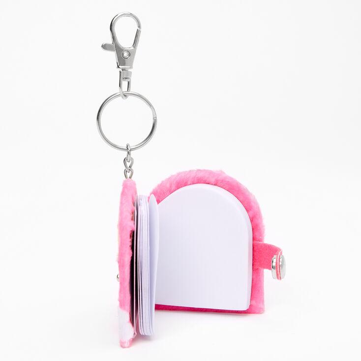 Porte-clés mini journal intime arc-en-ciel,