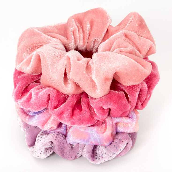 Sky Brown™ Small Hair Scrunchies – Pink, 4 Pack,