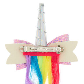 Claire's Club Unicorn Rainbow Faux Hair Barrette,