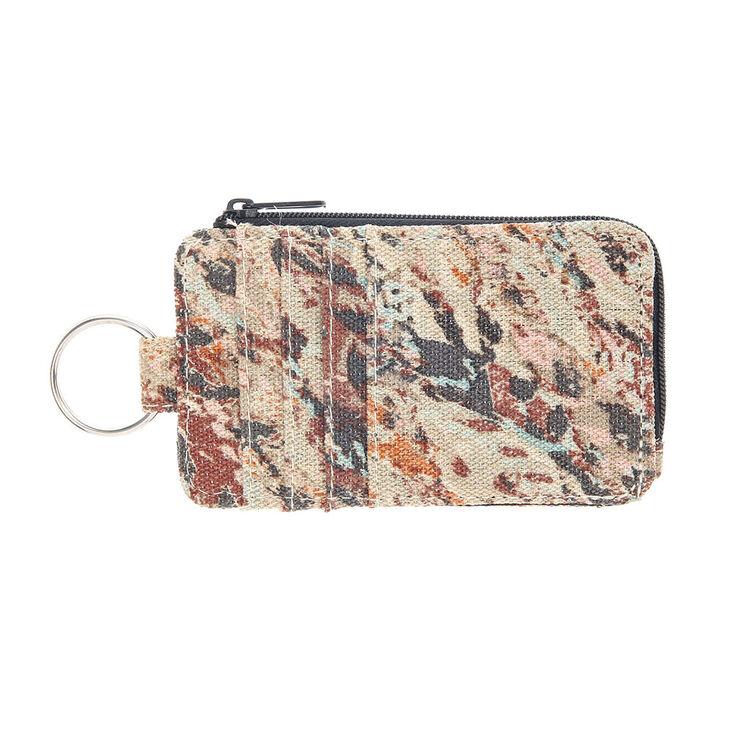 Porte-monnaie avec porte-clés motif indigène,