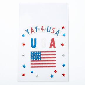 YAY 4 USA Flag Body Stickers,