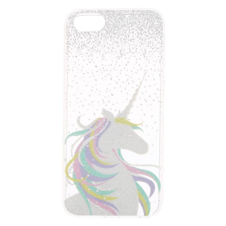 new products fa53f 929e2 Glitter Pastel Unicorn Phone Case - Fits iPhone 5/5S/SE