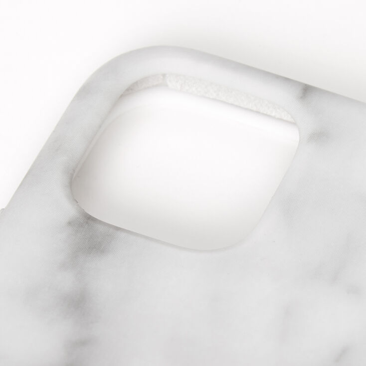 White Marble Phone Case - Fits iPhone 11,