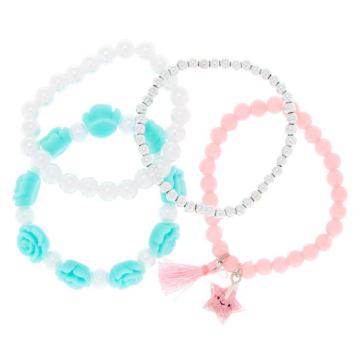 Claire's Club Pastel Stretch Bracelets - 4 Pack,