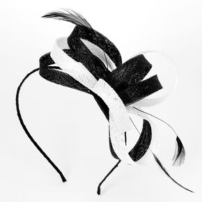 Black & White Sinamay Fascinator Headband,