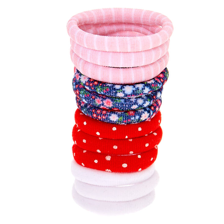 Claire's Club Rolled Hair Bobbles - 12 Pack,