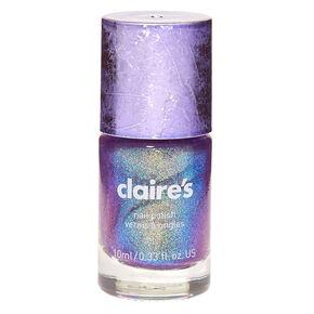 Shimmer Nail Polish - Purple Holo Glitz,