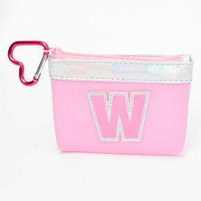 Pink Initial Coin Purse - W,