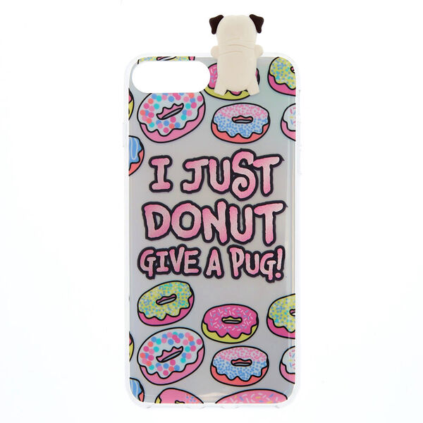 Claire's - marleypug pop over phone case - 1