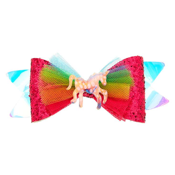 Claire's Club Rainbow Unicorn Hair Barrette,