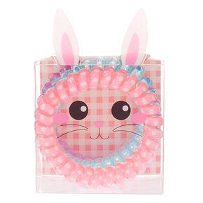 Easter Bunny Spiral Hair Ties - 3 Pack,