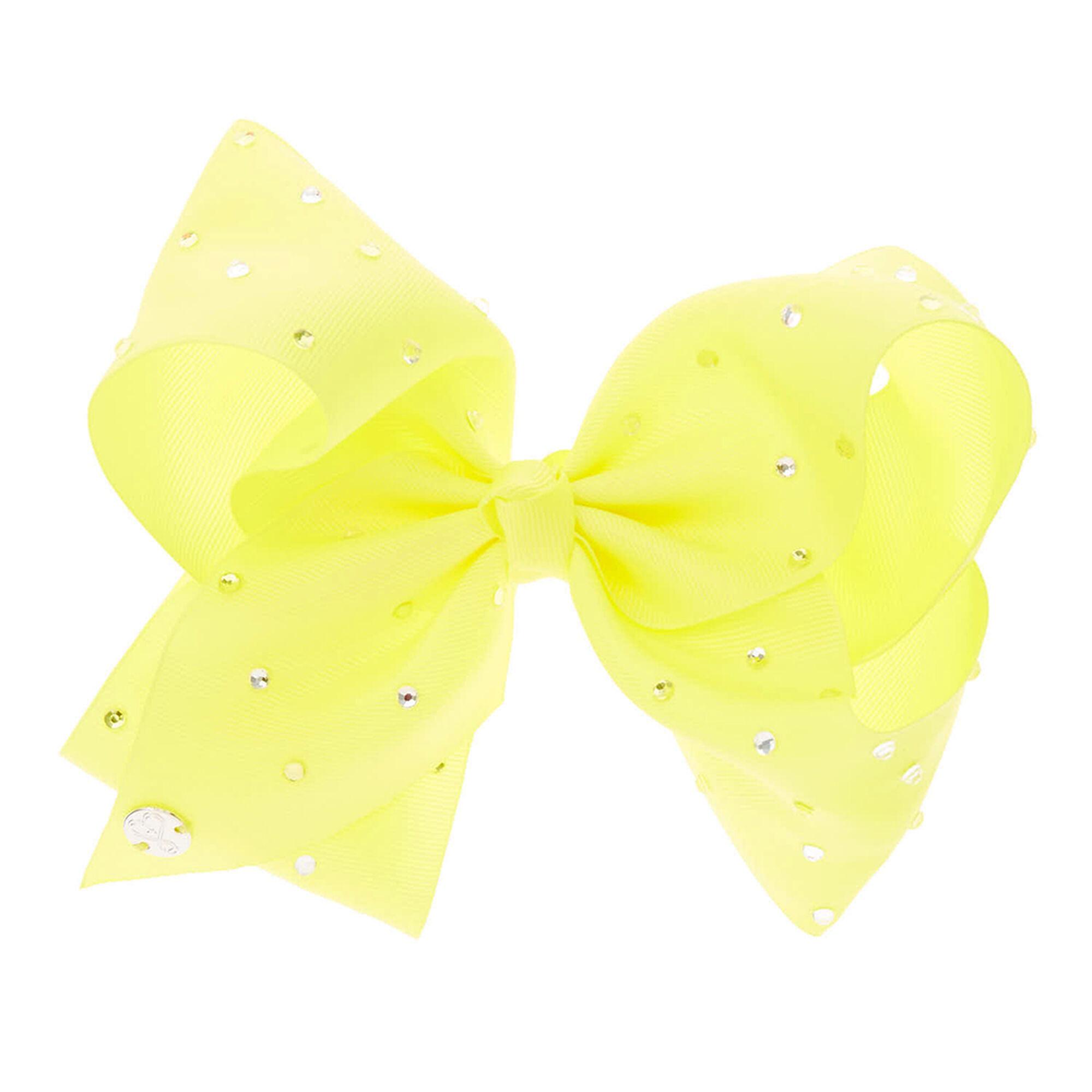 JoJo Siwa Large Yellow Rhinestone Hair Bow | Claire\'s