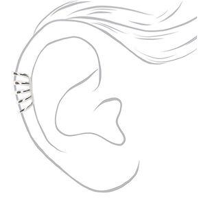 Manchette d'oreille à cinq rangs couleur argentée,