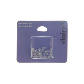 Clear Nylon Earring Backs - 12 Pack,