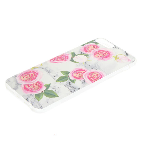 Claire's - peonies marbled phone case - 2