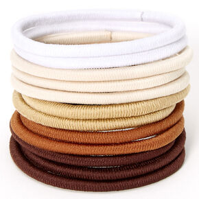 Brown Blend Hair Ties - 12 Pack,