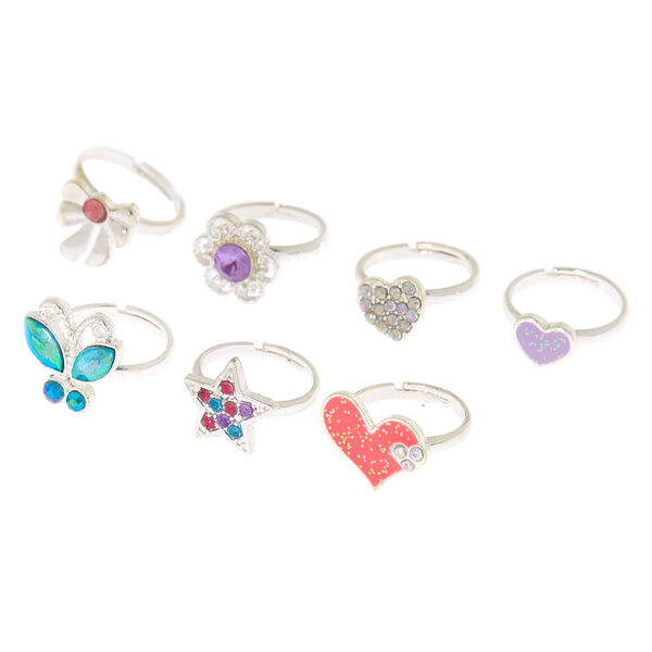 Claire's - club heart ring set - 2