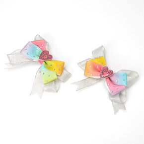 Love, Diana™ Rainbow Heart Hair Bows – 2 Pack,