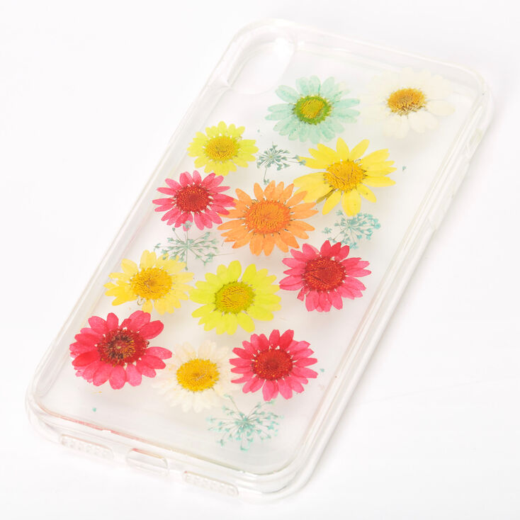 Rainbow Pressed Sunflower Phone Case - Fits iPhone XR,