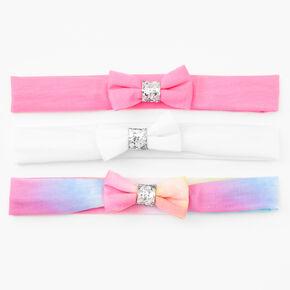 Claire's Club Tie-Dye Bow Headwraps - 3 Pack,