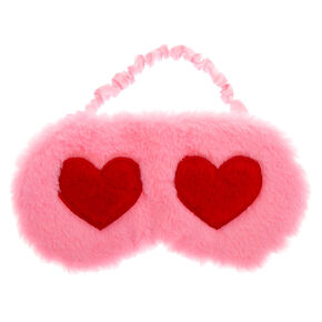 Hearts Sleeping Mask - Pink,