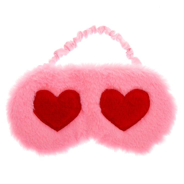 Hearts Sleeping Mask - Pink,