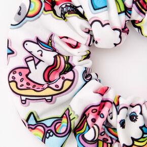 Medium Rainbow Emojis Hair Scrunchie,
