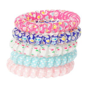 Claire's Club Spring Flower Hair Ties - 5 Pack,