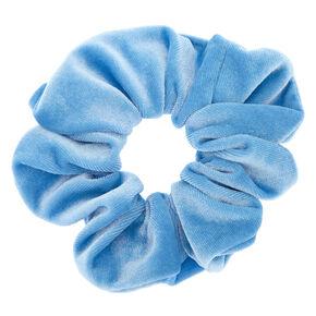 Medium Velvet Hair Scrunchie - Sky Blue,
