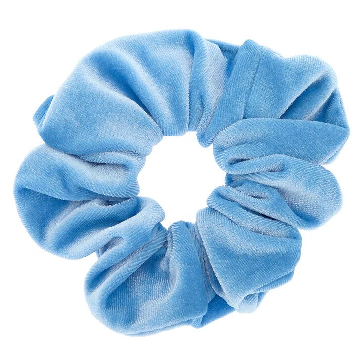 Claire's Chouchou en imitation velours bleu ciel
