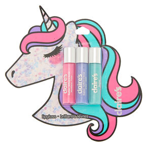 Miss Glitter the Unicorn Lip Gloss Set - 3 Pack,