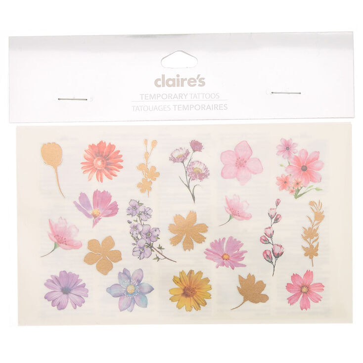 845cc81fa Small Flower Temporary Tattoos | Claire's US