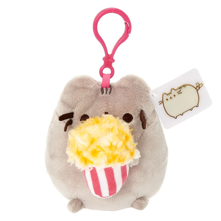 4248012c2cf Pusheen® Medium Popcorn Plush Keyring Clip - Gray