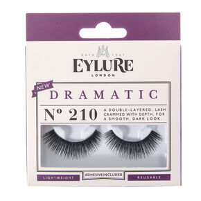 12879a00098 Eylure Dramatic False Lashes No. 210 - Black