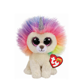 Ty Beanie Boo Small Layla the Rainbow Lion Plush Toy,