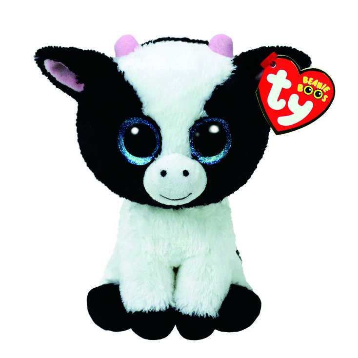 Ty Beanie Boo Small Butter The Cow Plush Toy,