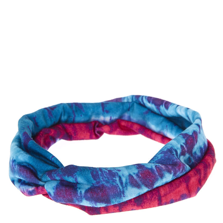 Cotton Candy Tie Dye Twisted Headwrap,