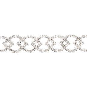 Silver Rhinestone Citrus Choker Necklace,