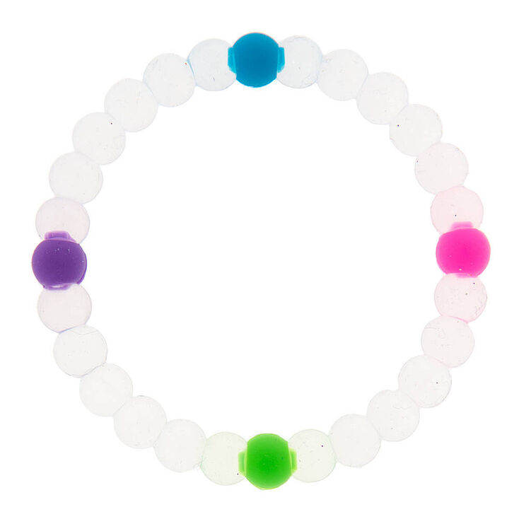 Clear Rainbow Fortune Stretch Bracelet,