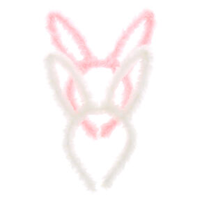 Plush Bunny Ears Headbands - 2 Pack,