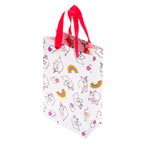 Small Miss Glitter the Unicorn Gift Bag - White,