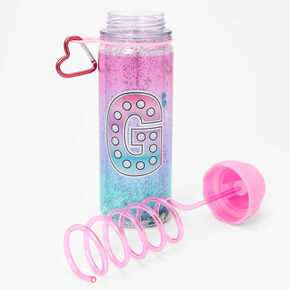 Initial Water Bottle - Pink, G,