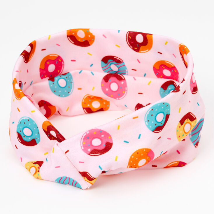 Donut Print Button Headwrap - Pink,