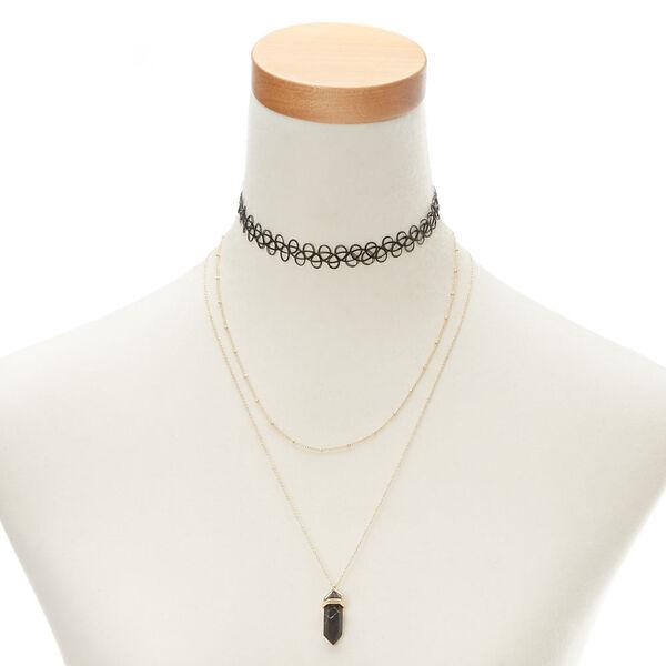 Claire's - marble stone necklace set - 1