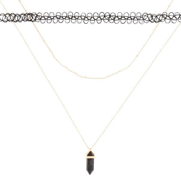 Claire's - marble stone necklace set - 2