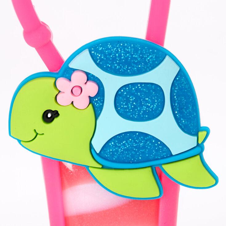 Glitter Tessa the Turtle Lip Gloss Tube - Strawberry,