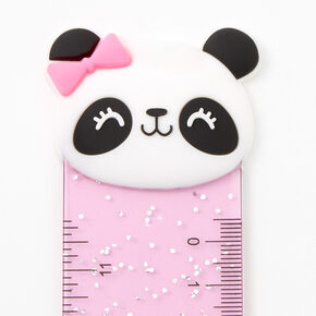 Glitter Panda Ruler - Rainbow,